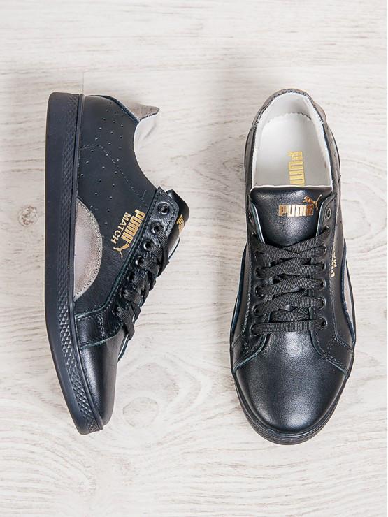 44c49412efe4 Кеды женские кожаные Puma Match (реплика) черные  продажа, цена в ...