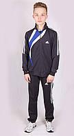 Костюм спортивный мужской в стиле Adidas 1318 Dark gray Адидас Размеры S M, фото 1