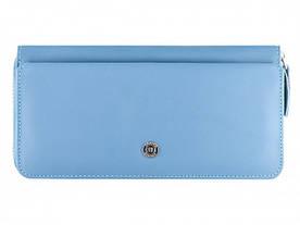 Женский клатч Boston в голубом цвете с дополнительным отделом для карточек на передней стенке. (B202 Light Bl)