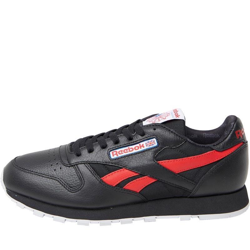 Мужские кожаные кроссовки Reebok Classics Mens Leather SO (BS5208) черные оригинал