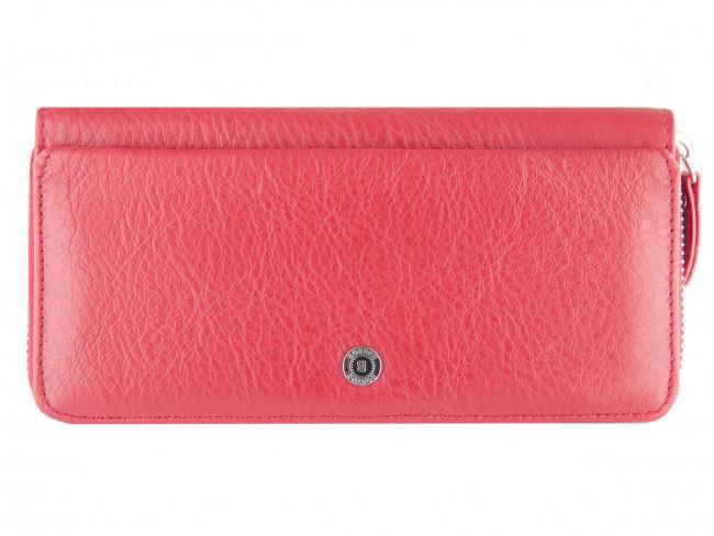Женский клатч Boston в красном цвете с дополнительным отделом для карточек на передней стенке. (B202 Red)