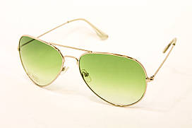 Солнцезащитные очки Авиатор зеленые очки (911-17)