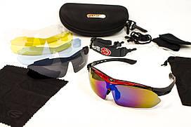 Защитные очки тактические 02 RED