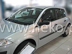Дефлекторы окон (ветровики)  Renault Megane II 2002-> 5D Hatchback 4шт (Heko)