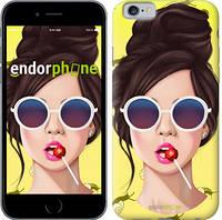 """Чехол на iPhone 6 Девушка с чупа-чупсом """"3979c-45-8079"""""""