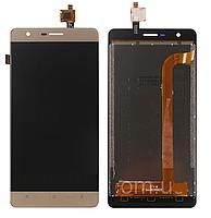 Дисплей (экран) для Oukitel K4000/ K4000 Lite с сенсором/тачскрином (модуль) золотой