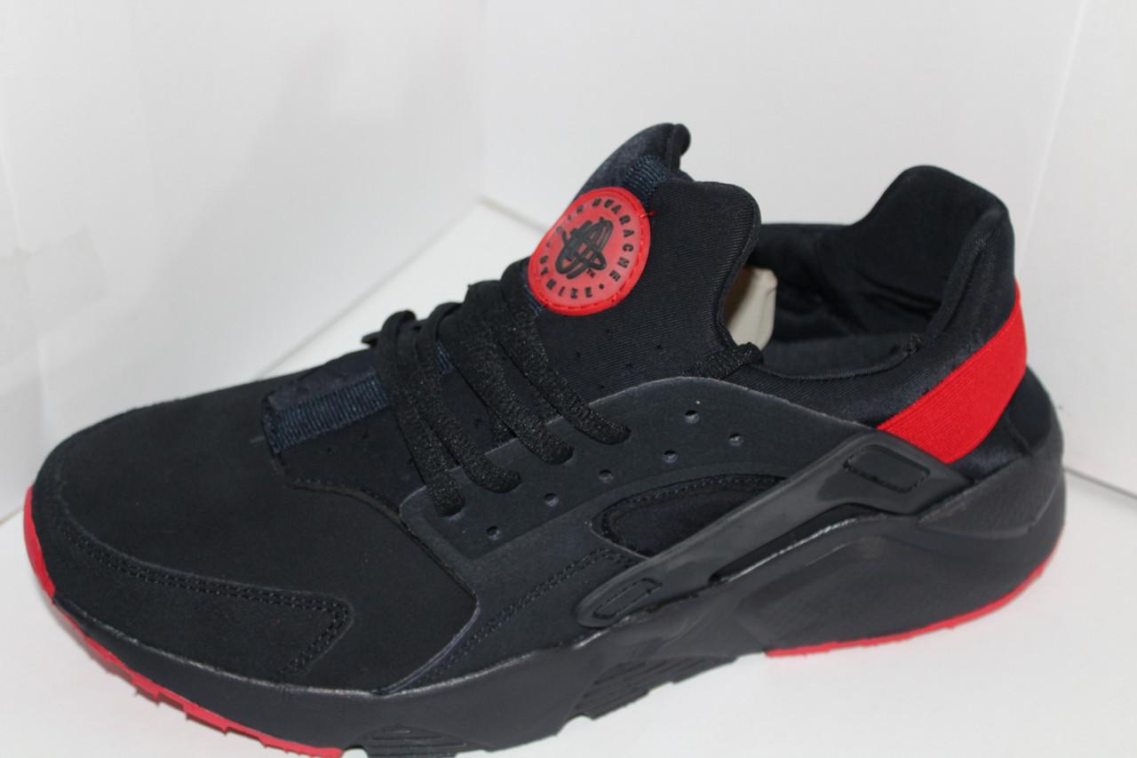 9b4ee4aa Мужские кроссовки Nike Huarache на шнуровке с красными вставками на шнурке  - Фирменная обувь в Харьковской