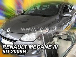 Дефлекторы окон (ветровики)  Renault Megane III 2008 -> 5D HB 4шт (Heko)