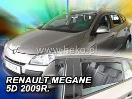 Дефлекторы окон (ветровики)  Renault Megane III Grandtour 2009-> 5D 4шт (Heko)
