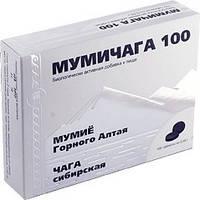 Мумичага 100 Арго (чага, мумие) заживление раны, ожоги, язва, инфекции, травмы, переломы, онкология