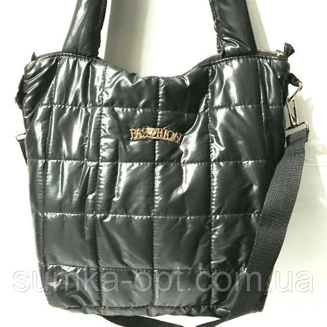 df94429c51bd Стеганные стильные сумки опт Fashion (черный глянцевый)28*31 ...