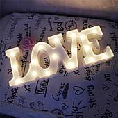 Ночник Love белый