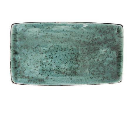 Прямоугольная тарелка 165 х 260 мм, Тиффани бирюза ** (Manna Ceramics)