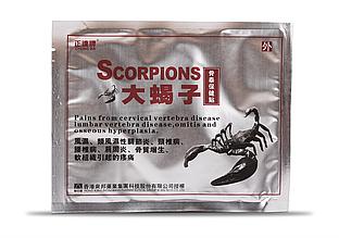 """Пластырь противоревматический Zheng Da """"Scorpions"""" усиленный, обезболивающий"""
