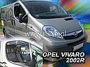Дефлекторы окон (ветровики)  Renault Trafic 2001->/Opel Vivaro 2001 2шт (Heko), фото 4