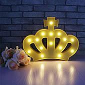 Нічник Корона жовтий