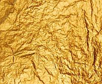 Поталь свободная, золото, № 2, /имитация/ в листах, 16х16 см, 20 листов, Nazionale, 9712002