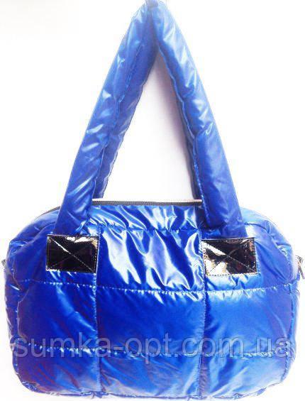 Дутые сумки под пуховик (синий без накатки)28*42