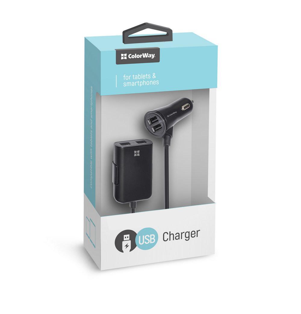 Автомобильное зарядное устройство ColorWay автозарядка для телефона, а