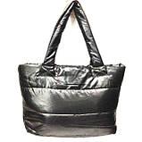Дутые сумки под пуховик  (черный+синий)30*39, фото 2