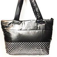 Дутые сумки под пуховик  (черный+синий)30*39