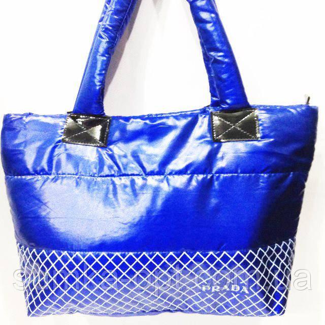 Дутые сумки под пуховик  (синий)30*39