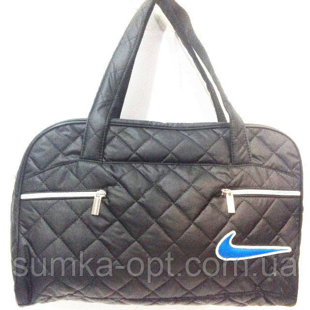 Стеганные сумки оптом Nike (черн+синий)27*42