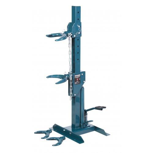 Стяжка пружин гидравлическая напольная с двумя комплектами получаш (макс. усилие 1т, рабочий диапазон 210-570мм )