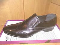 Кожаные мужские туфли черные