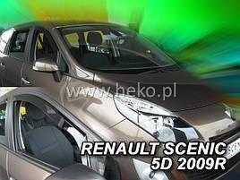 Дефлекторы окон (ветровики)  Renault Scenic III 2009-> 5D4шт (Heko)