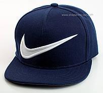 Реперка темно-синяя с белой вышивкой Nike
