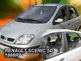 Дефлекторы окон (ветровики)  Renault Scenic 1996-2002 5D 4шт (Heko)