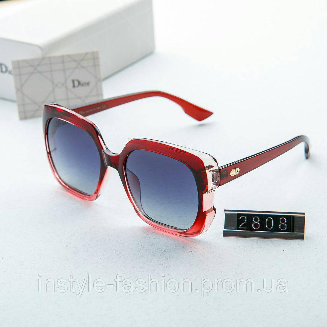 Женские брендовые очки копия Диор Poloroid красные
