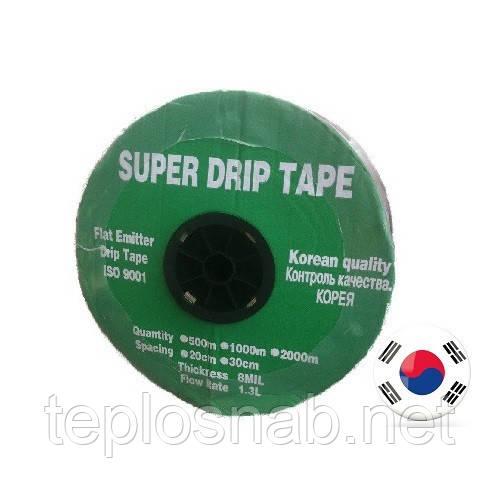 Лента для капельного полива SUPER DRIP TAPE 500м/20см щелевая(Корея)