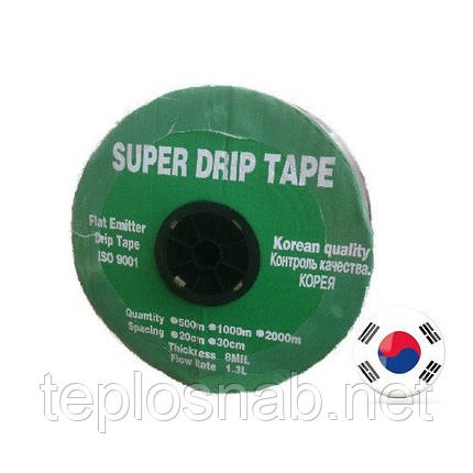 Лента для капельного полива SUPER DRIP TAPE 500м/30см щелевая(Корея), фото 2