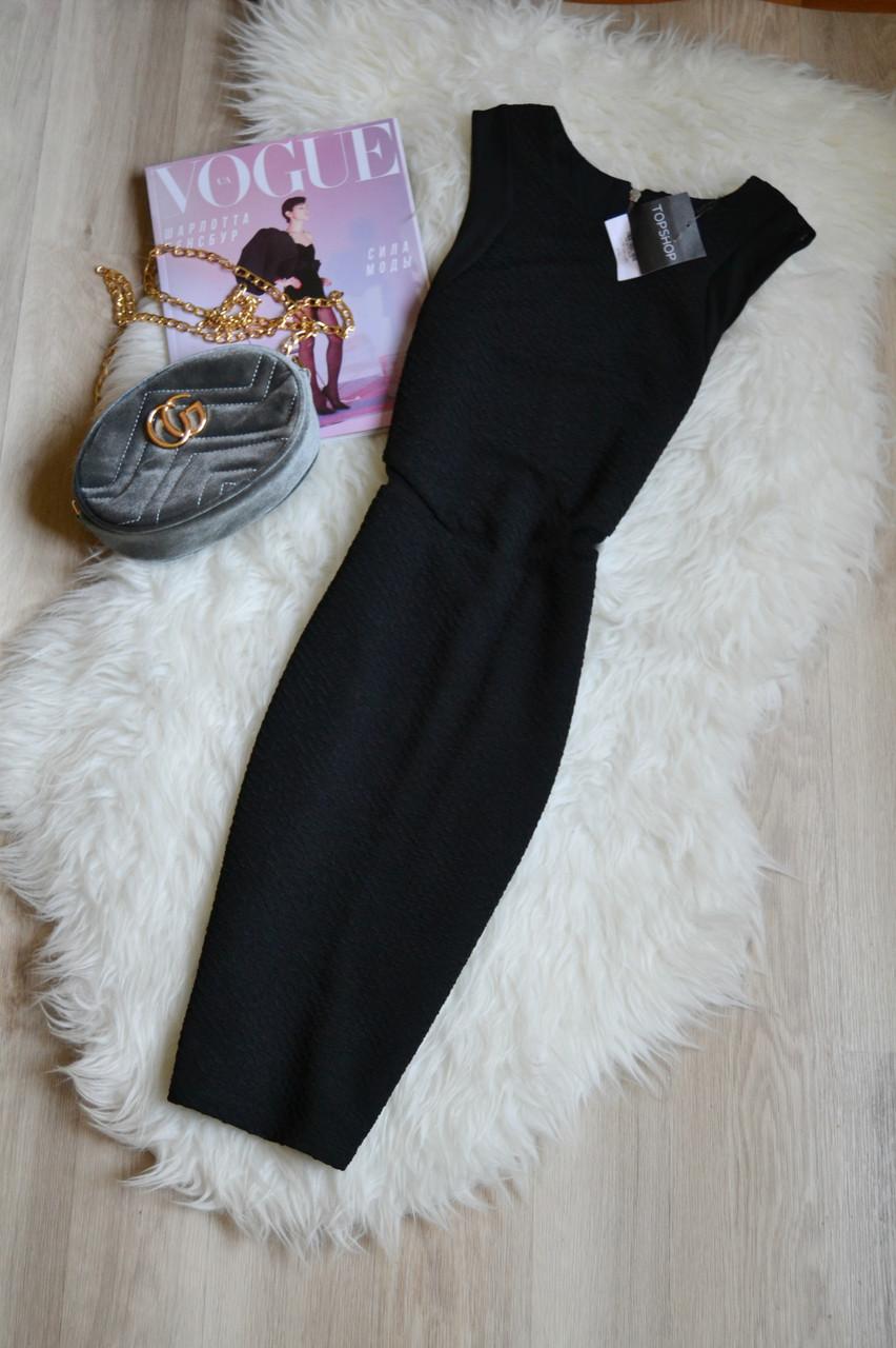 Новое черное платье со вставками из сетки Topshop