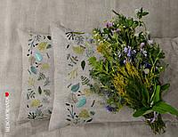 """Комплект льняного постельного белья """"Summerland"""", вышивка ручной работы, фото 1"""