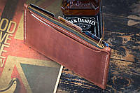 Мужское кожаное портмоне клатч mod.Keep коричневый, фото 1