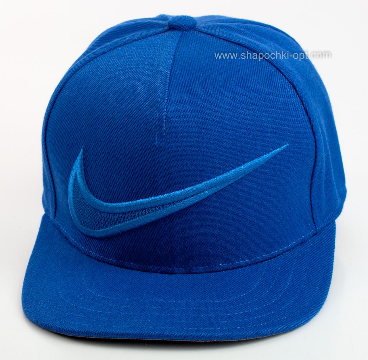 Снепбек цвета электрик с вышивкой Nike