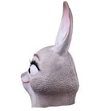 Большая резиновая маска зайчихи Зверополис Judy Хеллоуин Косплэй для девушки, фото 3