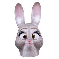 Большая резиновая маска зайчихи Зверополис Judy Хеллоуин Косплэй для девушки, фото 2