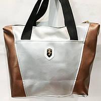 Универсальные сумки КОЖВИНИЛ Ferrari (серебро+бронза)30*41
