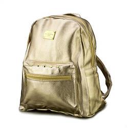 Жіночий рюкзак (золотий)