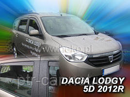 Дефлекторы окон (ветровики)  Renault DOKKER/ LODGY 2012R-> 5D 4шт (Heko)