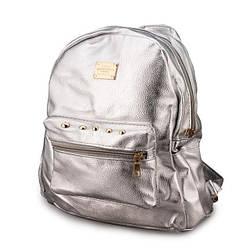 Жіночий рюкзак (сріблястий)