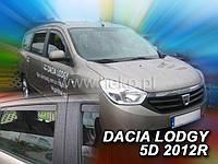 Дефлекторы окон (ветровики)  Renault DOKKER/ LODGY 2012R-> 5D 2шт (Heko)