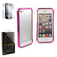 Deff Cleave чехол-бампер алюминиевый для Apple iPhone 5/5S/SE Розовый