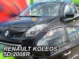 Дефлектори вікон (вітровики) RENAULT KOLEOS - I 5d od 08-16(HEKO)