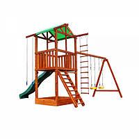 Детский уличный комплекс Babyland-2 игровой с качелями, песочницей и горкой (3 метра) ТМ SportBaby