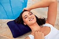 Подушка надувная(43-28-9см, синяя, в кор-ке, 19-13-4см ИНТЕКС)